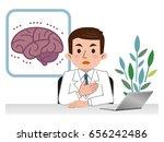 doctor explaining the brain | Shutterstock .eps vector #656242486