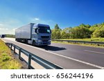 truck transportation | Shutterstock . vector #656244196