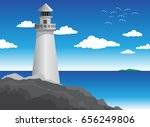Lighthouse Island Vector