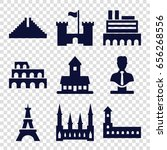 monument icons set. set of 9... | Shutterstock .eps vector #656268556
