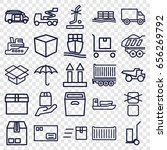 shipping icons set. set of 25... | Shutterstock .eps vector #656269792