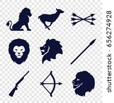 hunting icons set. set of 9... | Shutterstock .eps vector #656274928