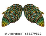 pair of colorful spread out...   Shutterstock .eps vector #656279812