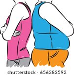 losing weight concept vector... | Shutterstock .eps vector #656283592