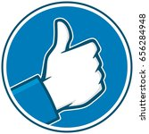 thumbs up icon | Shutterstock .eps vector #656284948