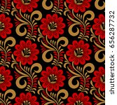 floral seamless pattern in... | Shutterstock .eps vector #656287732