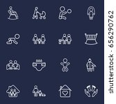 set of 16 family outline icons... | Shutterstock .eps vector #656290762