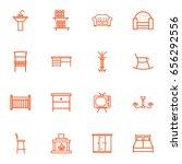 set of 16 set outline icons set.... | Shutterstock .eps vector #656292556