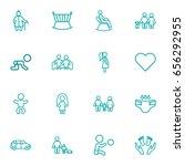 set of 16 family outline icons...   Shutterstock .eps vector #656292955