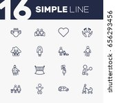 set of 16 relatives outline... | Shutterstock .eps vector #656293456