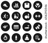 set of 16 training icons set... | Shutterstock .eps vector #656293546