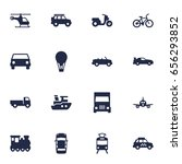 set of 16 traffic icons set... | Shutterstock .eps vector #656293852