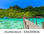 corals reef and islands seen... | Shutterstock . vector #656300836
