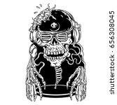 zombi dj black and white | Shutterstock . vector #656308045