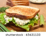 Egg Salad Sandwich On Brown...