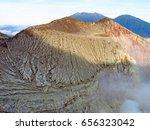 mount bromo volcano  east java  ... | Shutterstock . vector #656323042