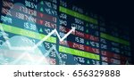 concept of stock exchange chart ... | Shutterstock . vector #656329888