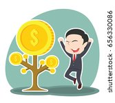 asian businessman happy his... | Shutterstock .eps vector #656330086