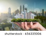business smart city concept for ... | Shutterstock . vector #656335006