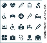 medicine icons set. collection... | Shutterstock .eps vector #656347555