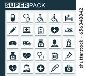 medicine icons set. collection... | Shutterstock .eps vector #656348842