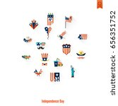 4th of july  independence day... | Shutterstock .eps vector #656351752