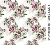 seamless pattern of a flowering ... | Shutterstock . vector #656353276