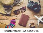 travel accessories costumes.... | Shutterstock . vector #656355946
