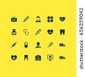 antibiotic icons set.... | Shutterstock .eps vector #656359042