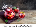 red wine sangria or punch with...   Shutterstock . vector #656360416