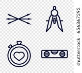 precision icons set. set of 4... | Shutterstock .eps vector #656367292