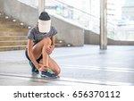 ankle twist sprain accident in... | Shutterstock . vector #656370112
