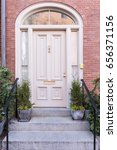 white front door of a luxury... | Shutterstock . vector #656371156