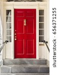 Tall Red Front Door