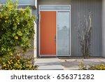 Front Reddish Orange Door ...