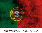 portugal flag grunge background.... | Shutterstock . vector #656372362