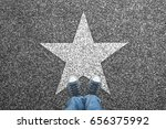 sneakers on road over white... | Shutterstock . vector #656375992