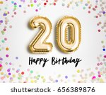 20th birthday celebration with... | Shutterstock . vector #656389876