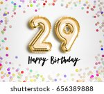 29th birthday celebration with... | Shutterstock . vector #656389888