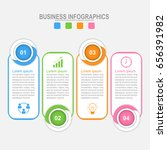 infographic four options ... | Shutterstock .eps vector #656391982