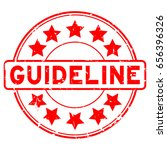grunge red guideline with star...   Shutterstock .eps vector #656396326
