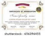 design a golden certificate for ... | Shutterstock .eps vector #656396455