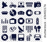 digital icons set. set of 25...   Shutterstock .eps vector #656402176