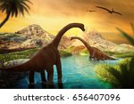 3d Fantasy Landscape With...