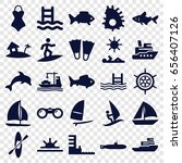 sea icons set. set of 25 sea... | Shutterstock .eps vector #656407126
