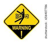 warning   crush hazard. sign ...   Shutterstock .eps vector #656407786