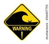 high surf warning sign  symbol  ...   Shutterstock .eps vector #656407792