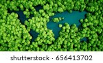 Rainforest Lakes In The Shape...