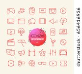 outline icon set. web and... | Shutterstock .eps vector #656416936