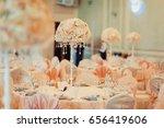 wedding flower decoration  | Shutterstock . vector #656419606